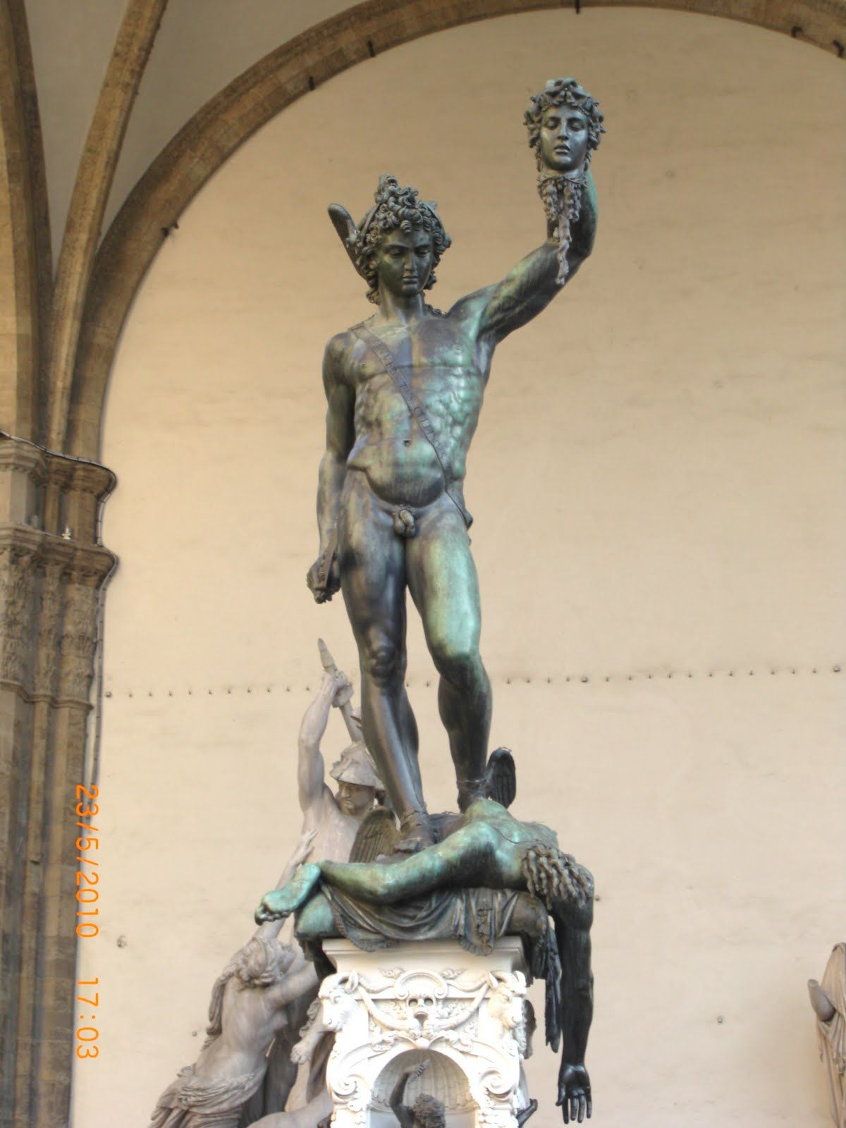 David and Goliath statue Florence