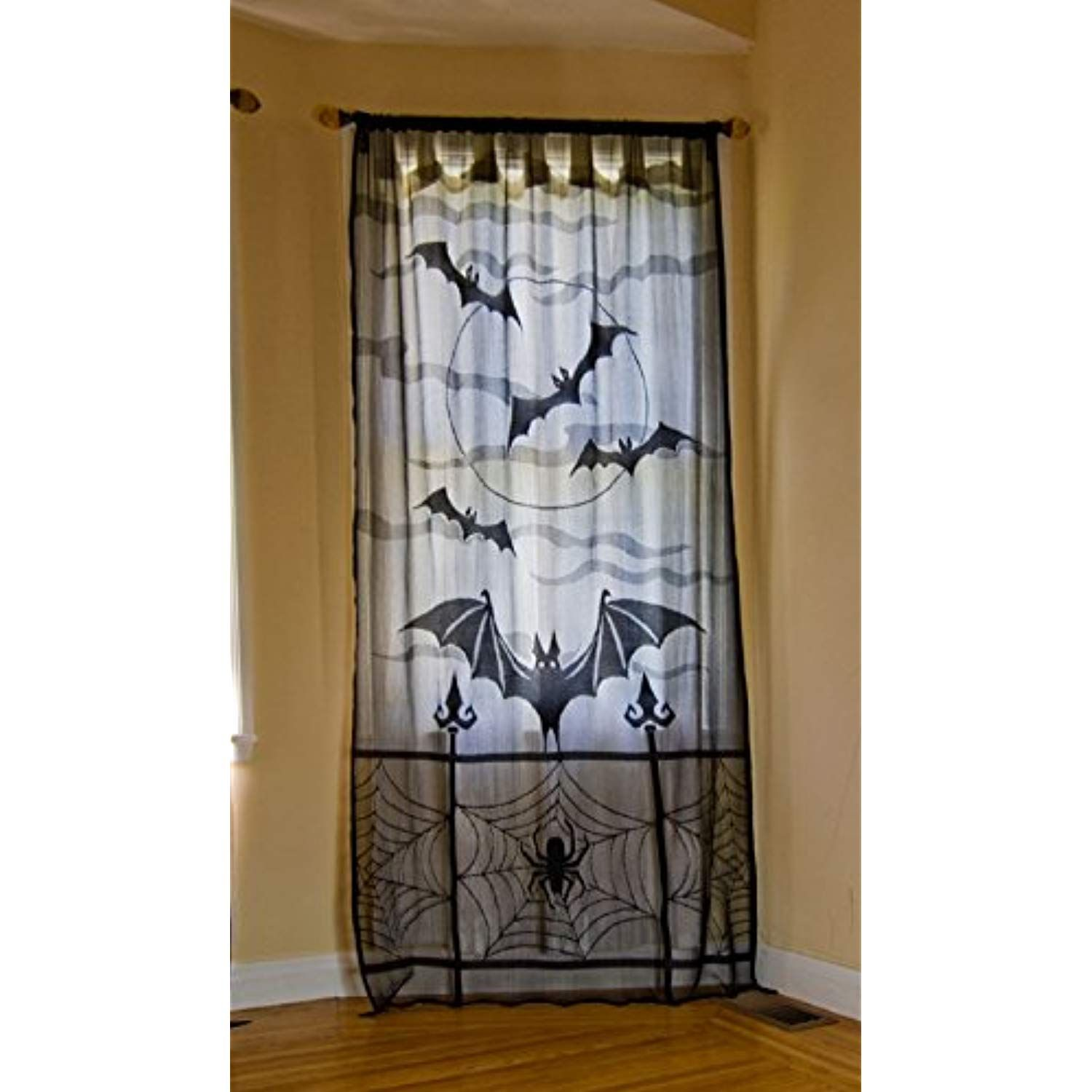 Yamuda halloween valance curtain mantle scarf lampshade black