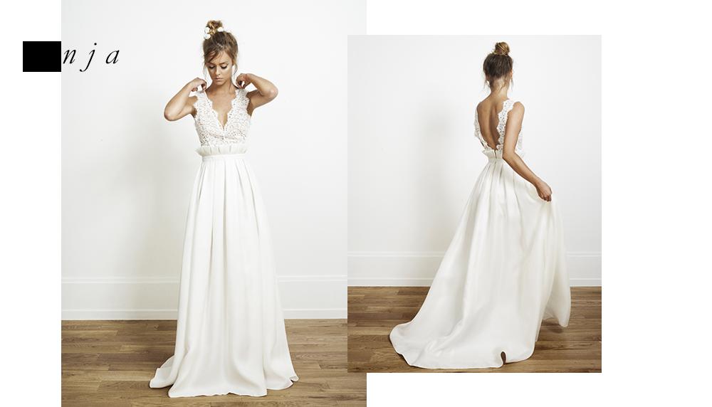 magnifique robe de mariage avec petit volume et haut de robe travaill en dentelle robe de. Black Bedroom Furniture Sets. Home Design Ideas