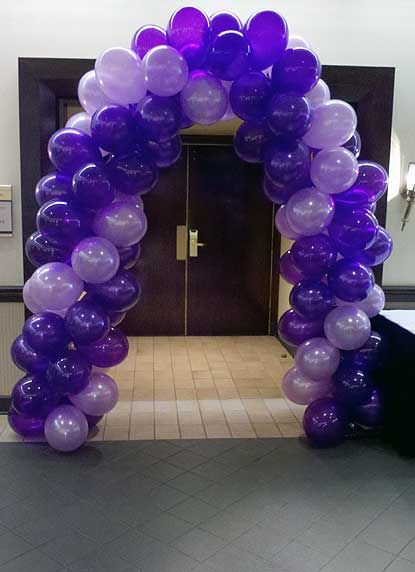 wedding purple balloon arches | Arches | Balloons All Over ... - photo#21