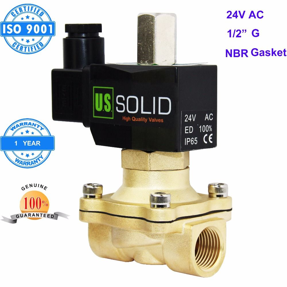U S Solid 1 2 Brass Electric Solenoid Valve 24vac G Thread Normally Open Air Water Nbr Valve Electricity Nbr
