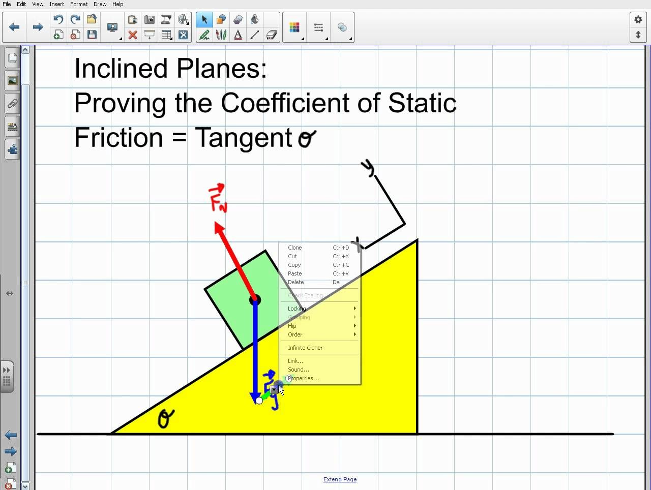 Physics Inclined Planes Proving Coefficient Of Friction