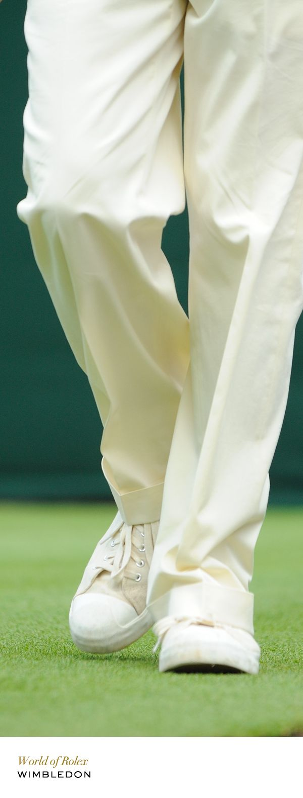 Almost-entirely white dress code. #Wimbledon #RolexOfficial