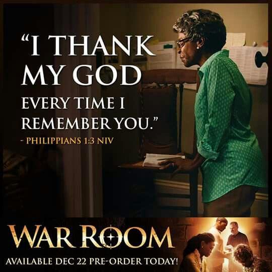 I Thank My God  Philippians 1:3 #WarRoom