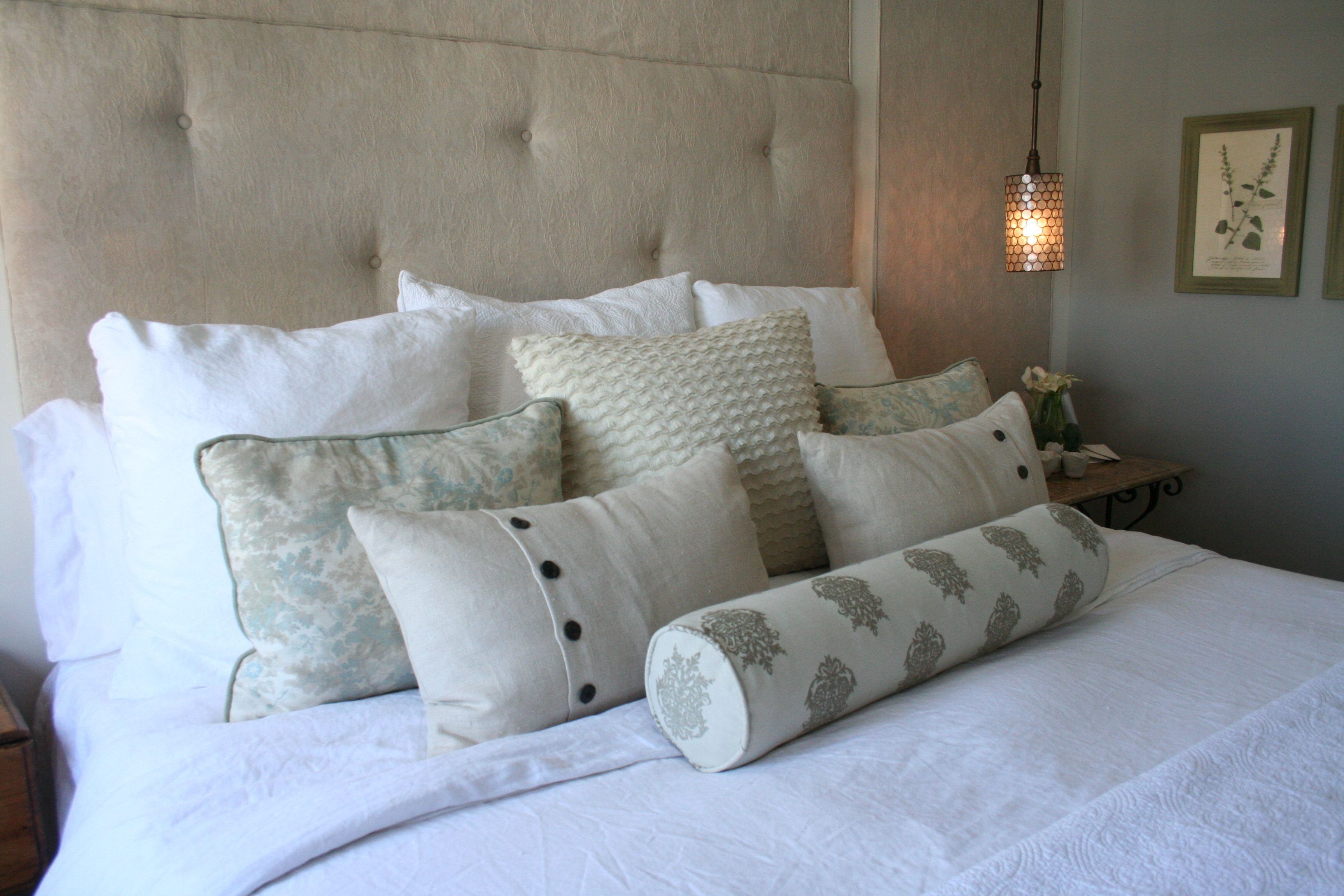 Cozy pillows for master bedroom at the beach master pinterest