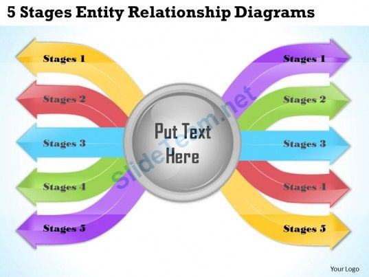 Business Ppt Diagram  Stages Entity Relationship Diagrams