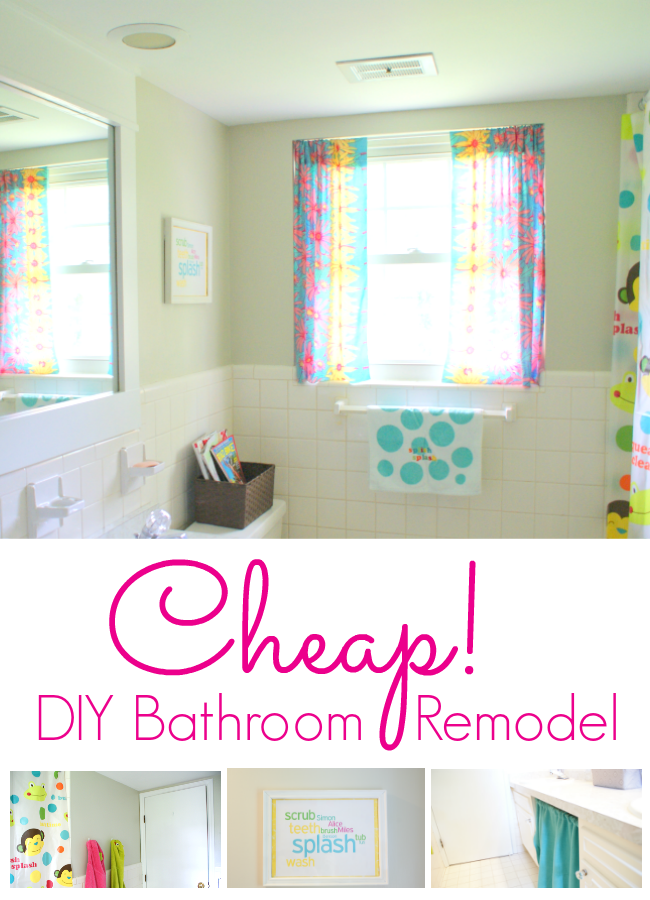 Looking For A Cheap DIY Bathroom Remodel With The Right Paint And A Few Crea
