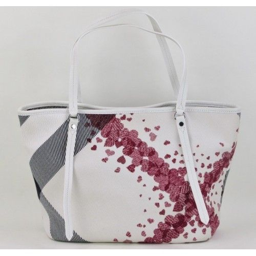 0684017048fb Great tote! Burberry Cream Canvas Heart Print Tote Bag-  299.95  burberry   MoshPosh