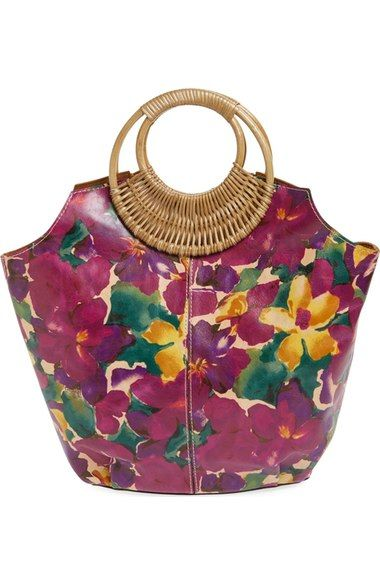 Patricia Nash 'Pratella' Wood Handle Tote available at #Nordstrom