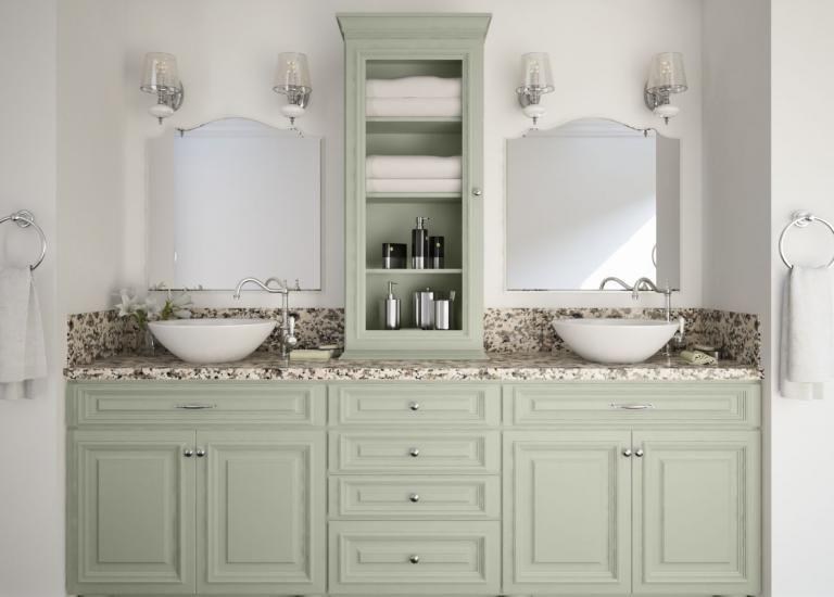 Roosevelt Sage Bathroom Bathroom Remodel Master Bathroom Vanity Rta bathroom cabinets near me