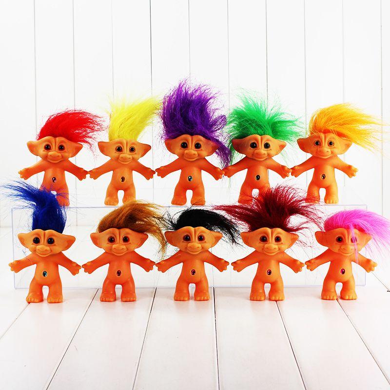 1Pcs 10cm Troll Figure Doll Leprocauns Dam dolls Kids Toys PVC Kids Christmas Gift 10 Styles Selectable