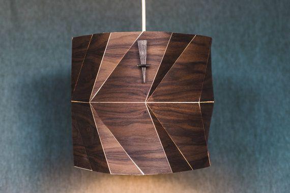 Wood Drum Lamp Shade Wood Pendant Light Ceiling Light Fixture Wood Lamp  Shade Modern Pendant Light In Veneer  Fault Lines | Drum Lamp Shades,  Ceiling Lights ...