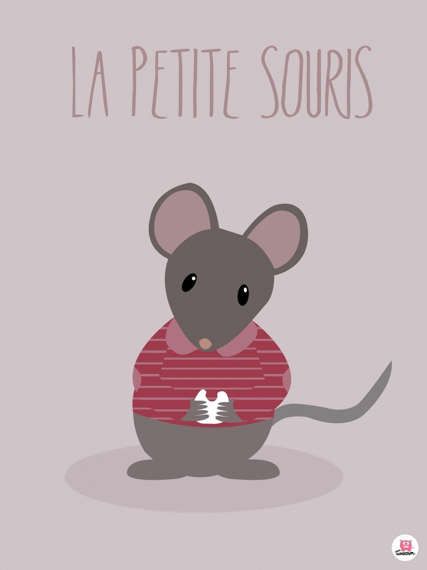 Affiche enfant la petite souris autres b b par boumbadaboum a afficher en 2019 - Dessin petite souris ...
