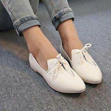 684ccc759f4 zapatos de las mujeres señalaron toe oxfords planos del talón con los  zapatos con cordones más colores disponibles 2017 -