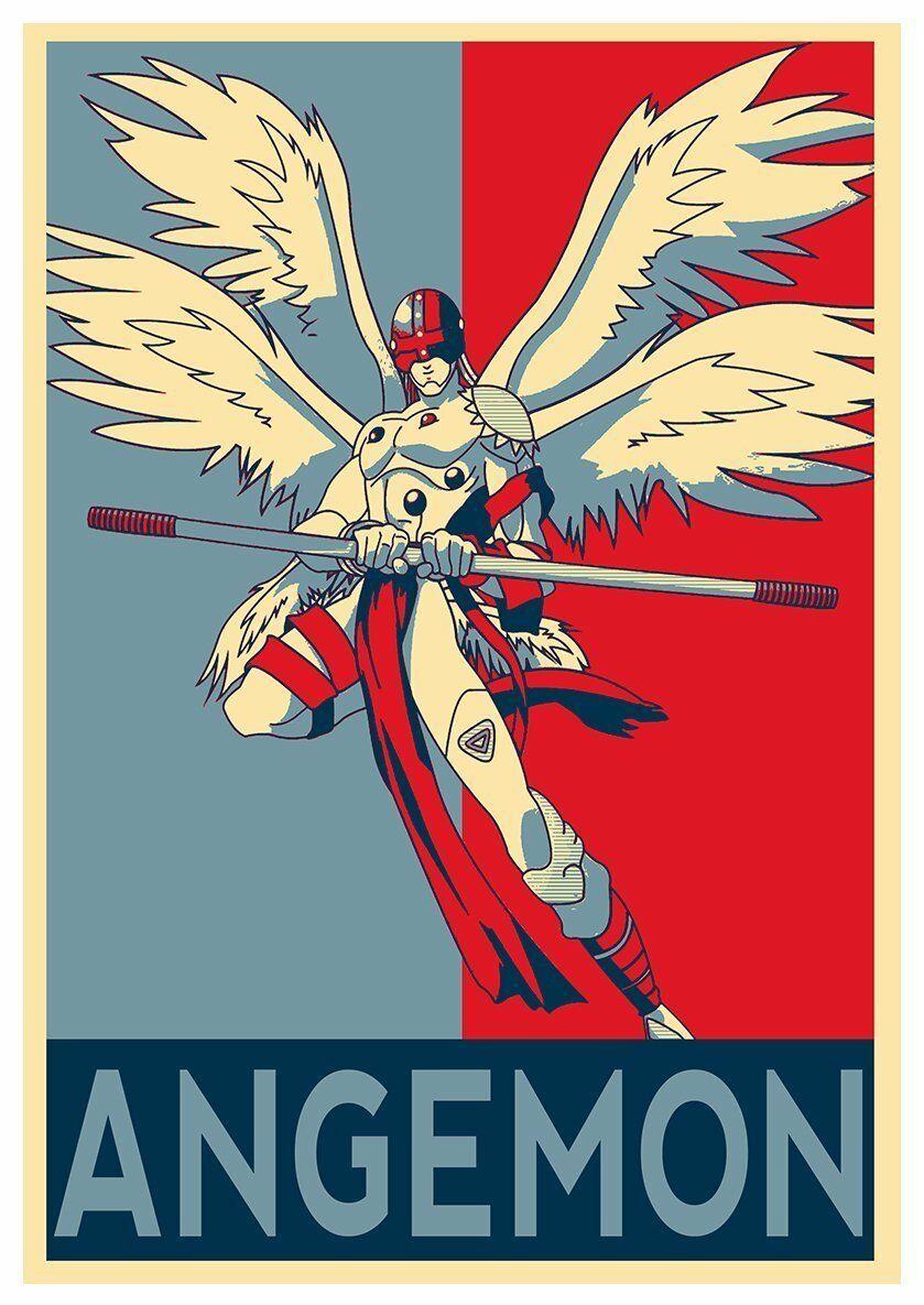 poster digimon  u0026quot propaganda u0026quot  angemon