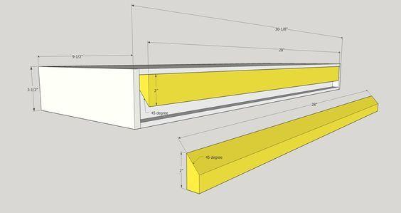 Modern Floating Shelves Mr Buildit With Images Modern