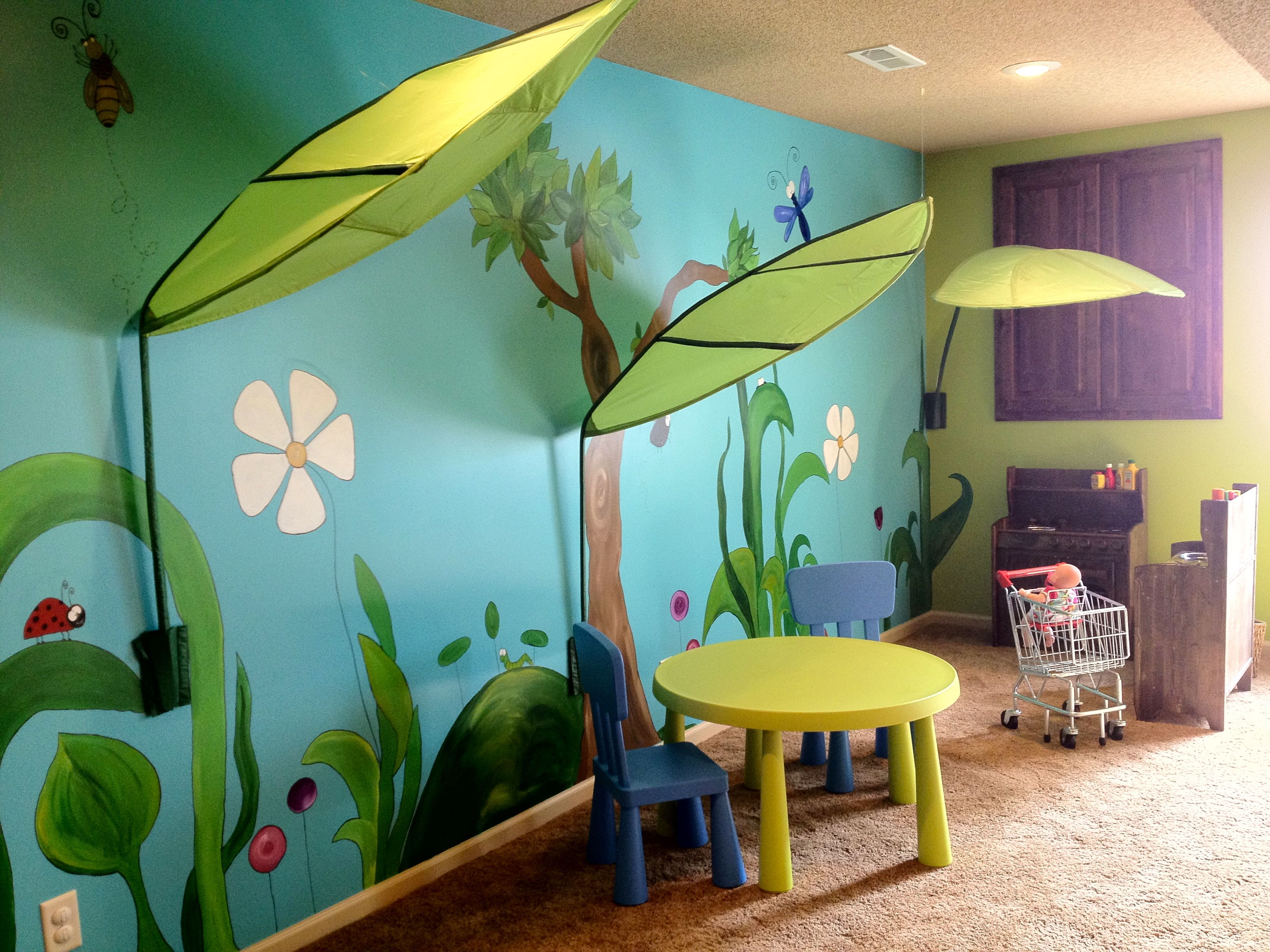 This Is The Hand Painted Mural I Created For Our New Space - Home daycare design ideas