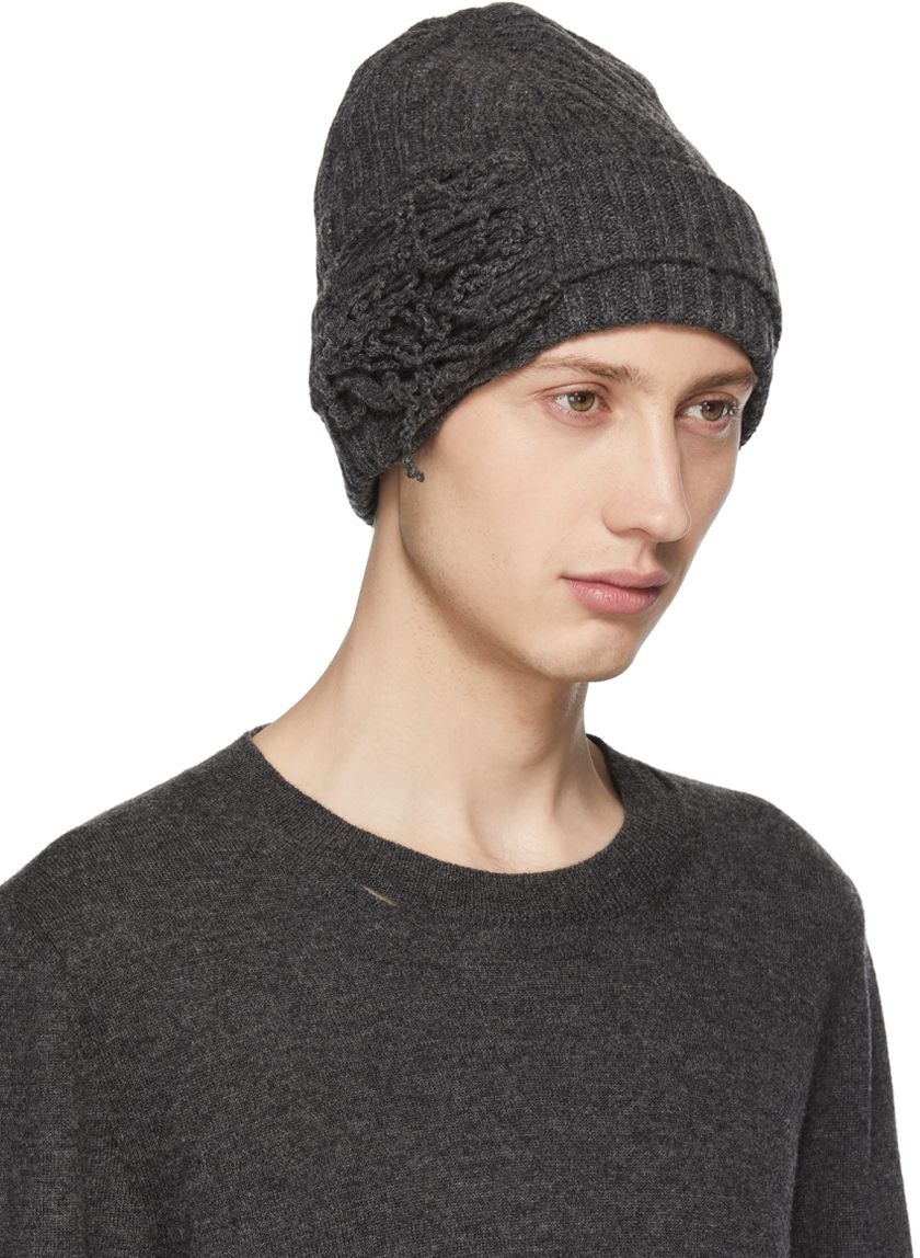 1bd163e7913 Maison Margiela - Off-White Destroyed Beanie