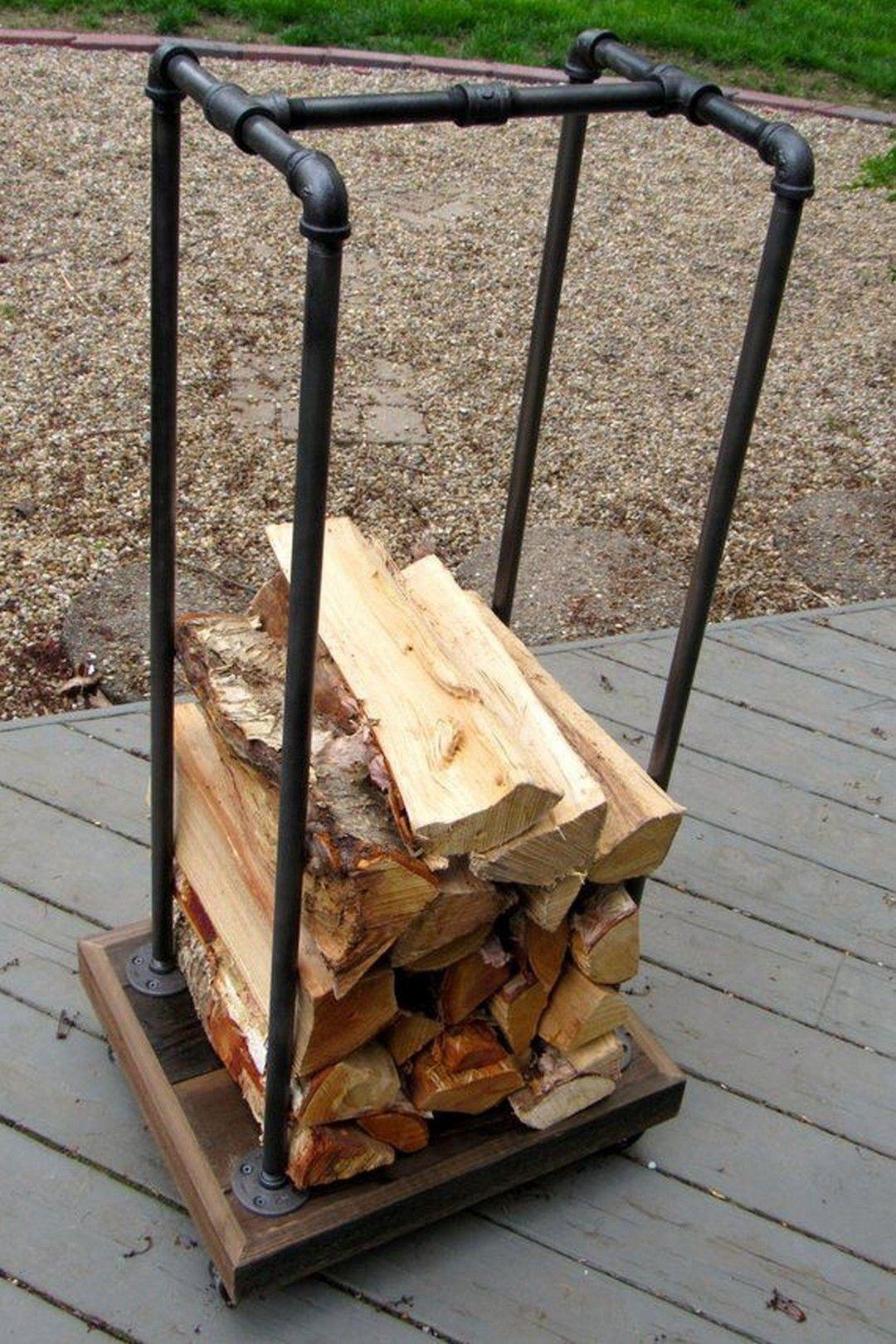 24 Super Easy DIY Outdoor Firewood Racks Wood storage