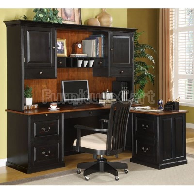L Shaped Desk With Hutch Lafontaine Coaster Furniture Cart Corner Computer Desksoffice