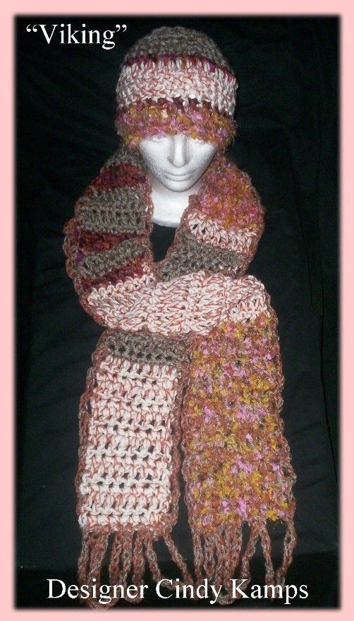 Viking Scarf & Hat pattern by Cindy Kamps available on Etsy and Ravelry $2.00
