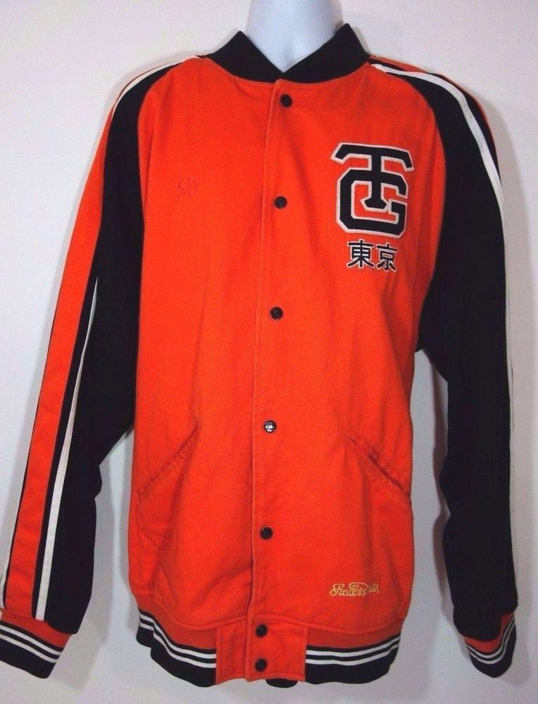 Stall & Dean's Tokyo Giants Yomiuri Orang Black Men's Varsity Jacket 4XL  #StallDeans #VarsityBaseball
