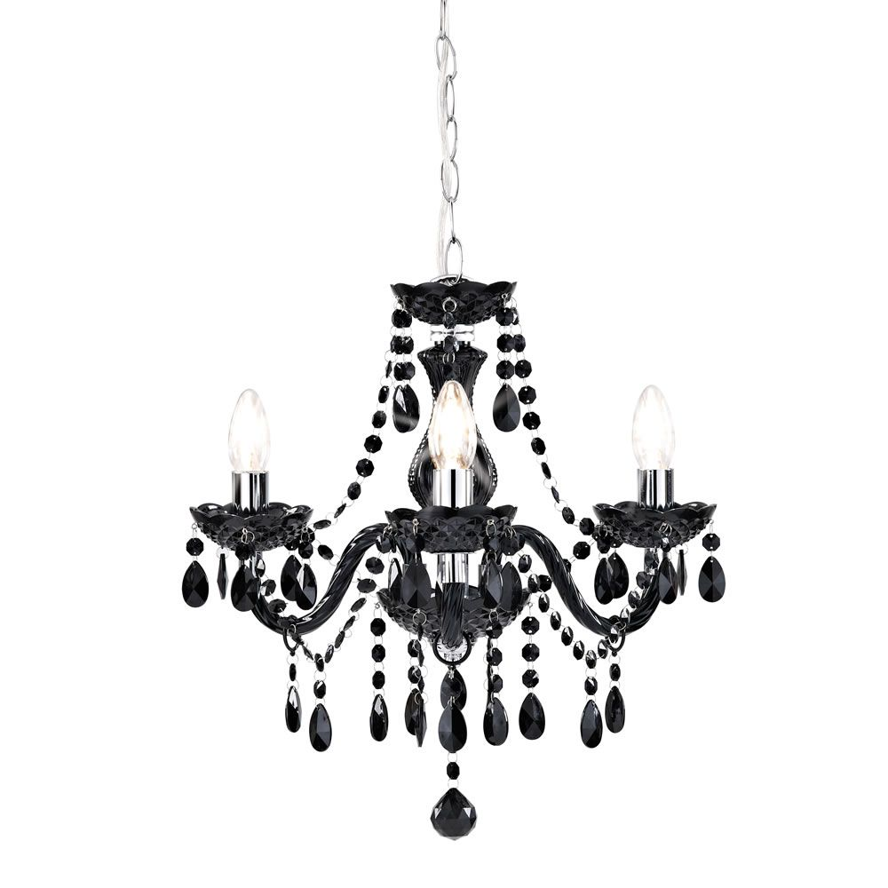 Marie therese chandelier 3 arm black arms ceiling lights and marie therese chandelier 3 arm black aloadofball Gallery