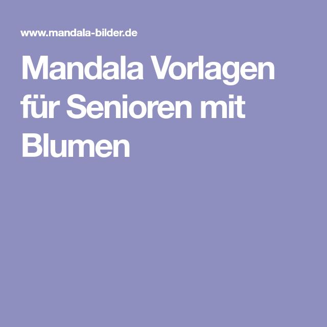 mandala vorlagen für senioren mit blumen  mandala