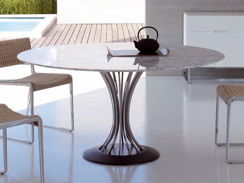 Tavoli Rotondi Moderni Design.Tavolo Rotondo Design Radar Alivar Nautico Tavoli Da