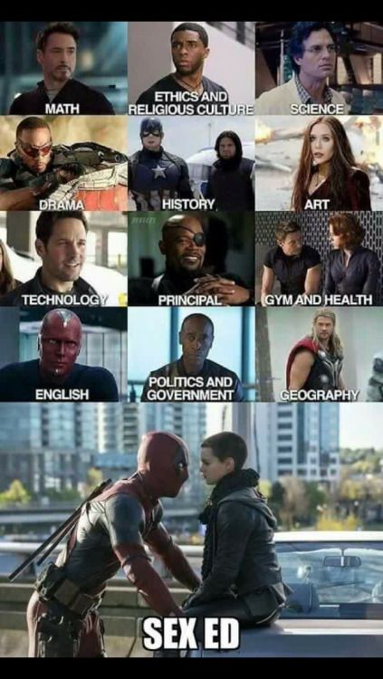 Deadpool Undervisning Sex Ed Omg Im Dying Marvel-1327