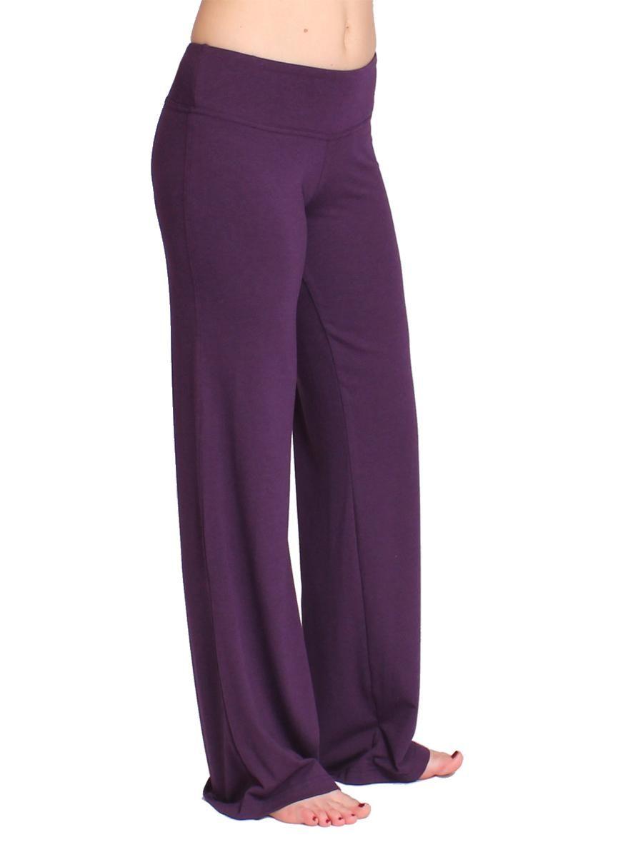 ea056f0e635d The Flow Yoga Pant - Plum -- Bamboo and organic cotton yoga pants ...