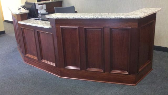 office counter tops. perfect tops the desk has ten inset shadow boxes and the counter top is granite in office counter tops i
