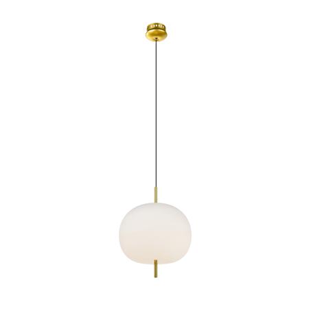 ALTAVOLA DESIGN: Ekskluzywna lampa LED wisząca złoto biała