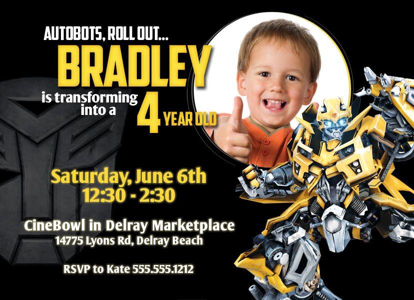 Transformers Birthday Invitation Digital File Transformer