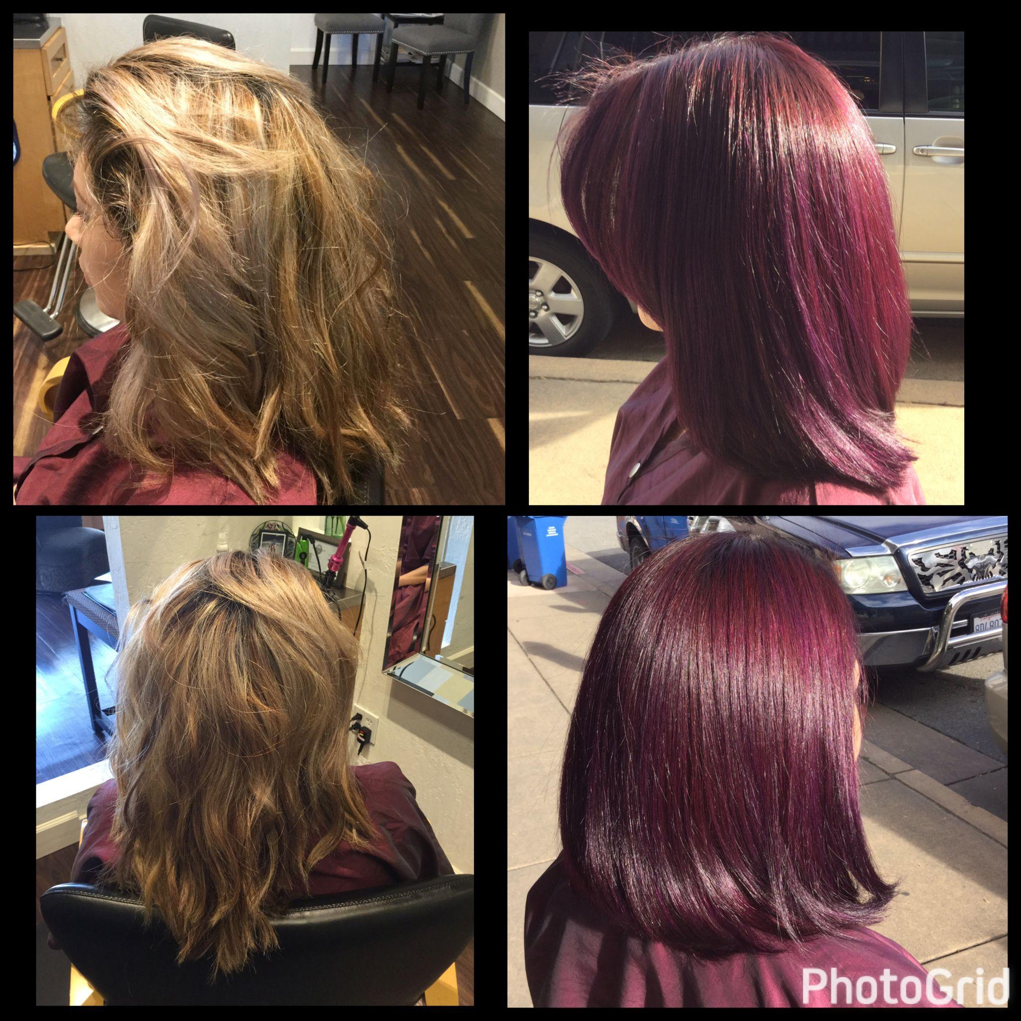 Merlot hair color -  Merlot Hair Color And Cut By Aveda S Hairstylist Joel Pisani San Rafael