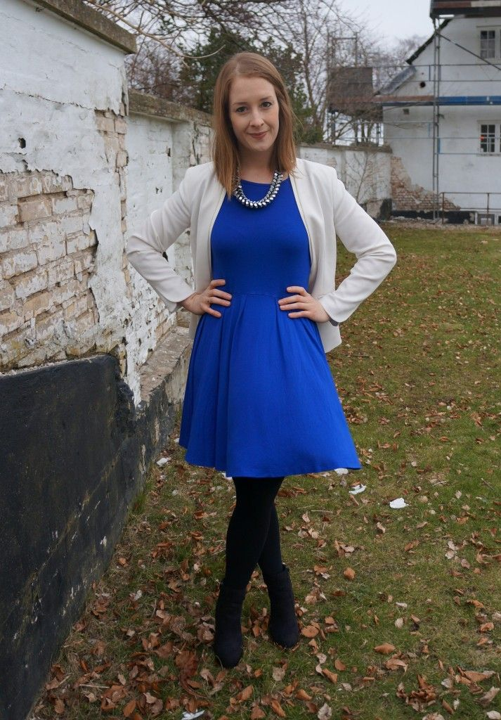Look of the day: White and Blue http://www.kathrinerostrup.dk/2013/03/dagens-outfit-white-and-blue/#