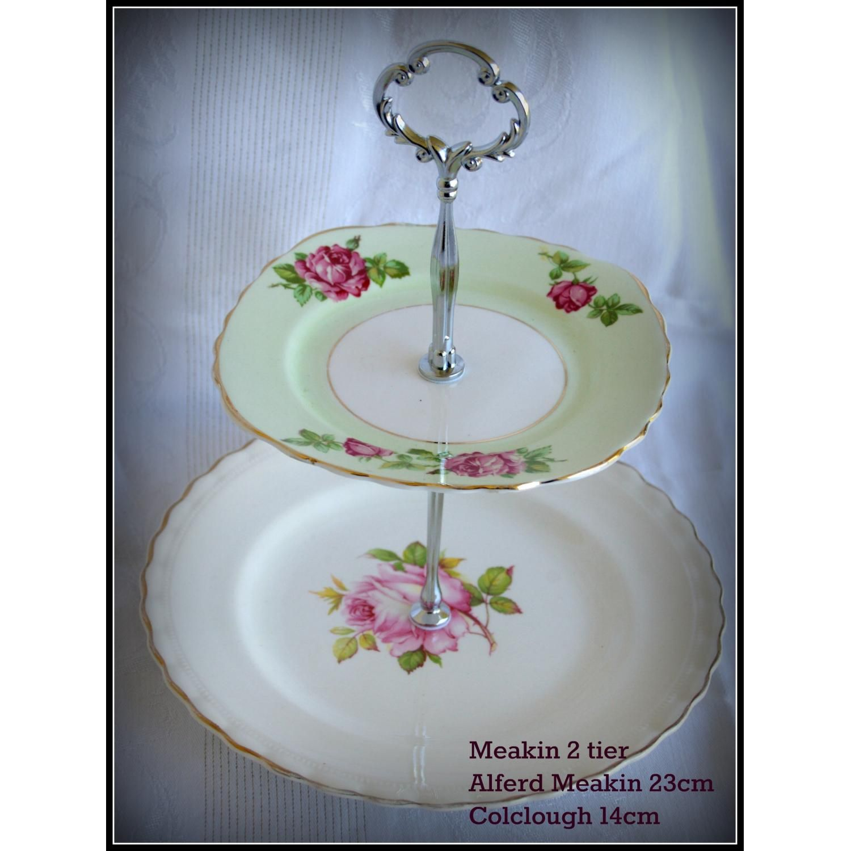 2 Tier Cake Plate Alfred Meakin Colclough by MyP&eredLittlePrincess  sc 1 st  Pinterest & 2 Tier Cake Plate Alfred Meakin Colclough by ...