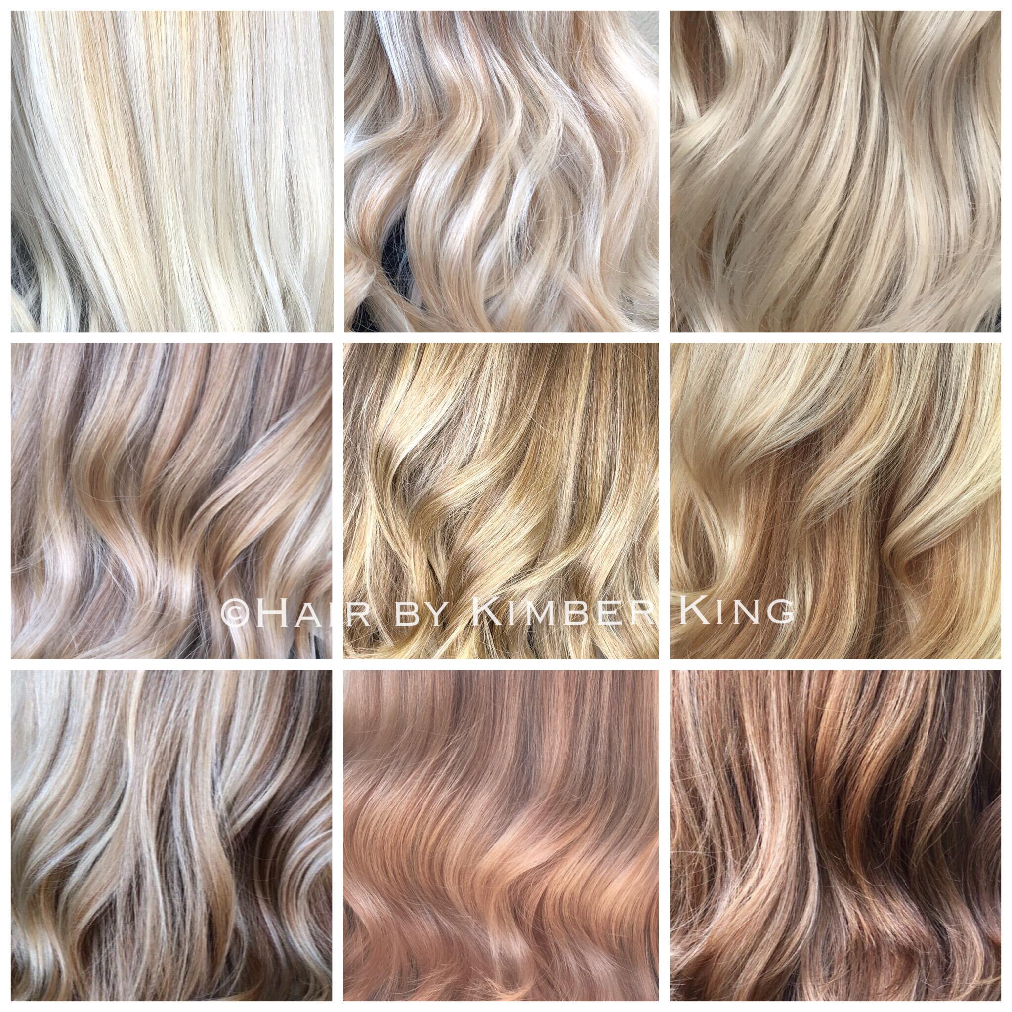 Shades Of Blonde. Platinum, Diamond, Vanilla, Pearl, Wheat