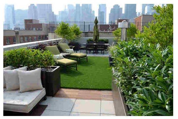 roof garden, taman di atas atap Cantik! Desain Taman Minimalis in - Terrace Design