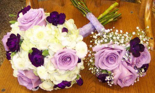 Lavender Bridal Bouquet And Toss Bouquet Lavender Bridal Bouquet Bridal Bouquet Florist
