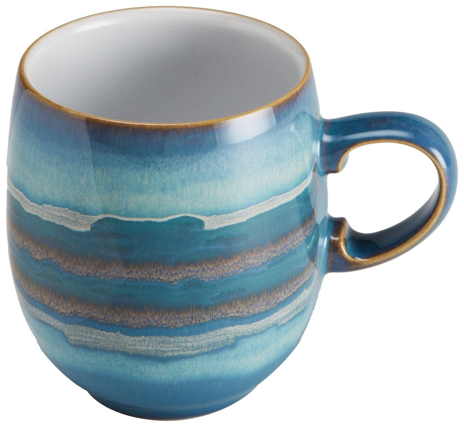 Denby Azure Coast Large Curve Mug 10cm Amazon.co.uk