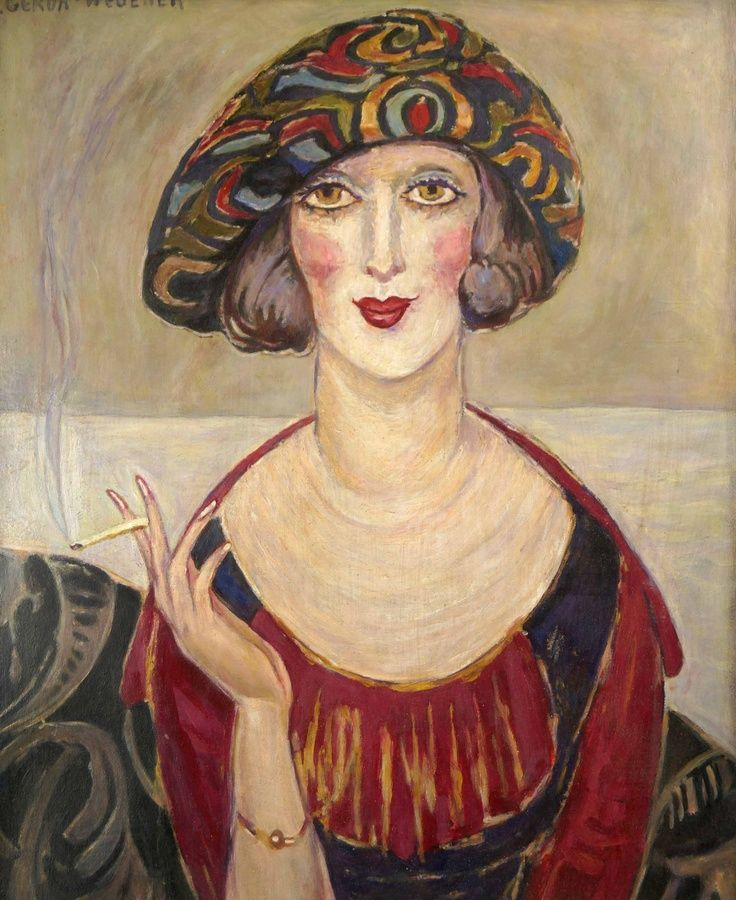 Portrait By Gerda Wegener C 1920 Producción Artística Pinturas Arte De Ilustración