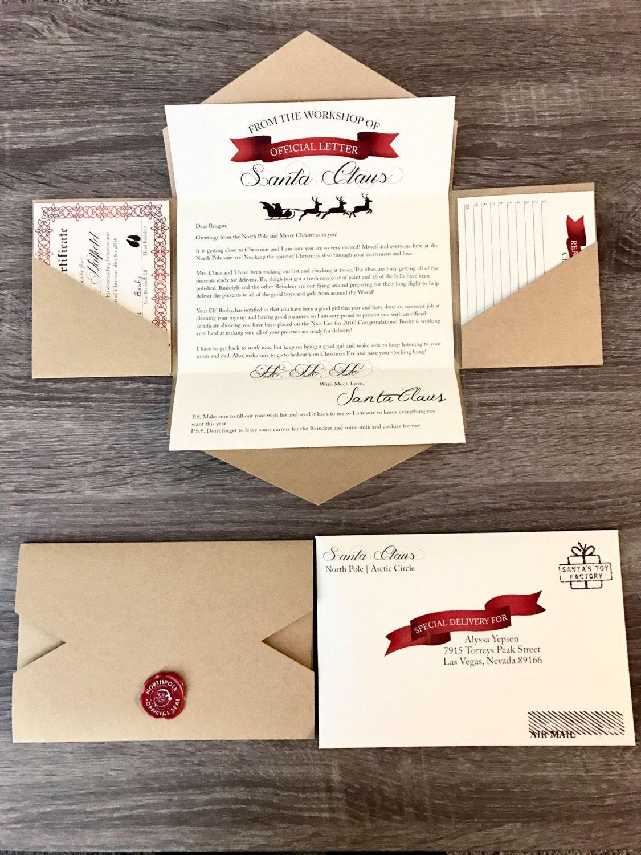 Letter To Santa  Letter From Santa  Christmas  Nice List