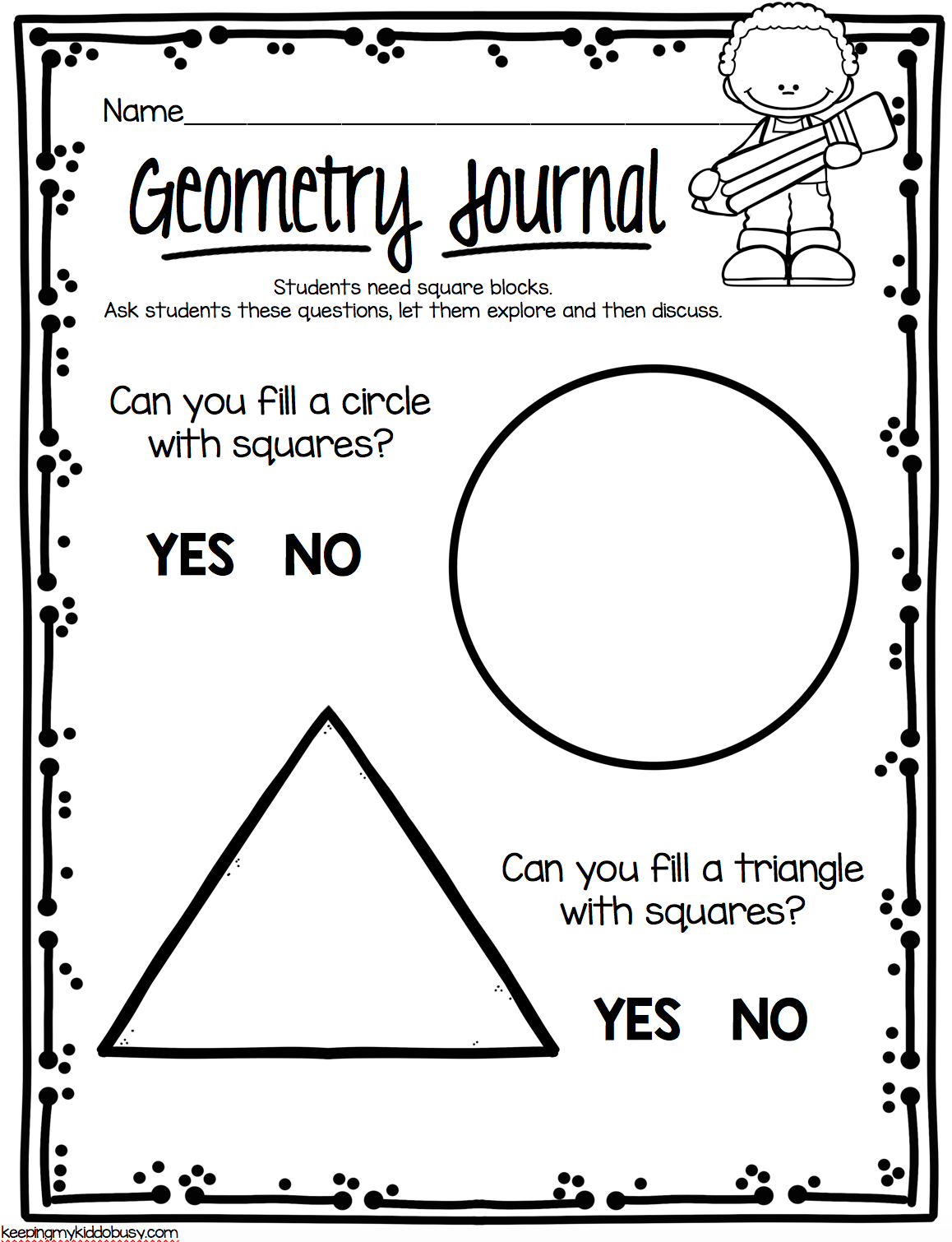 Kindergarten Geometry Unit Freebies