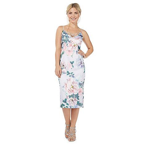 Debut Lilac Peonise Floral Print Midi Dress Debenhams Floral Print Midi Dress Dresses Debut Dresses