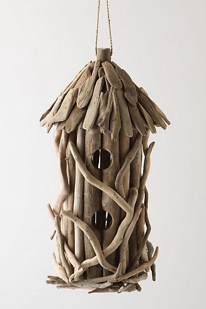 Driftwood Birdhouse  #anthropologie