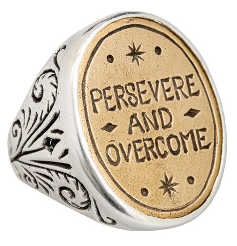 Persevere Signet Ring