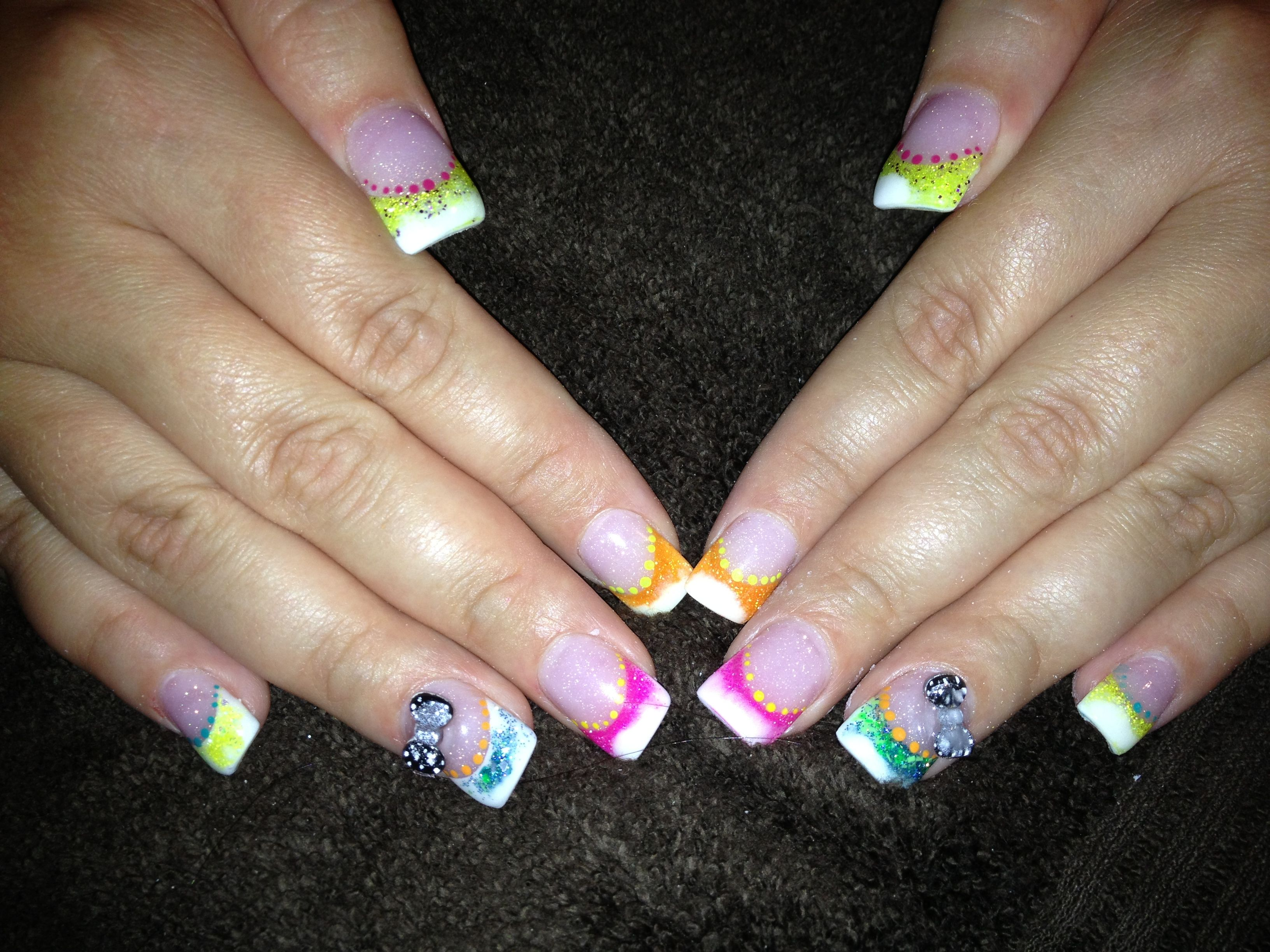 Colorful nail designs acrylic nails gallery nail art and nail bright summer color acrylic nail design saras nail designs bright summer color acrylic nail design prinsesfo prinsesfo Choice Image