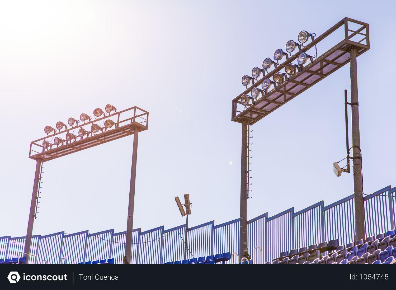 Free Two Football Stadium Lights Photo Download In Png Jpg Format Stadium Lighting Football Stadiums Stadium