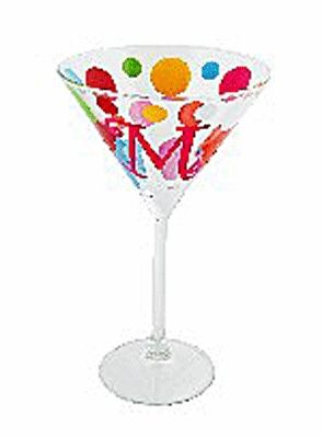 Party Time Initial Martini Glass